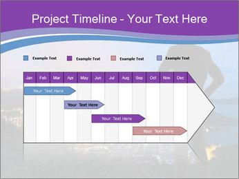 Man Enjoys Sunset PowerPoint Template - Slide 25