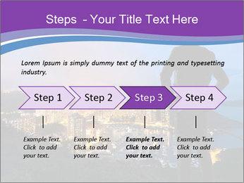 Man Enjoys Sunset PowerPoint Template - Slide 4