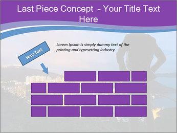 Man Enjoys Sunset PowerPoint Template - Slide 46