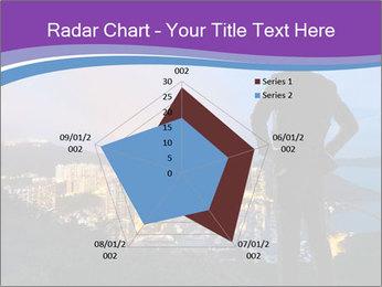 Man Enjoys Sunset PowerPoint Template - Slide 51