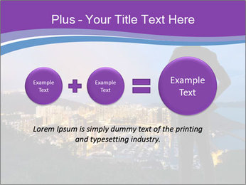 Man Enjoys Sunset PowerPoint Template - Slide 75