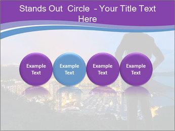 Man Enjoys Sunset PowerPoint Template - Slide 76