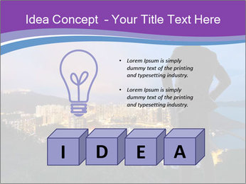 Man Enjoys Sunset PowerPoint Template - Slide 80