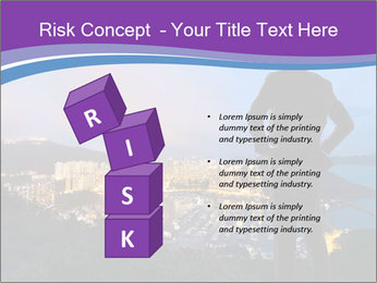 Man Enjoys Sunset PowerPoint Template - Slide 81