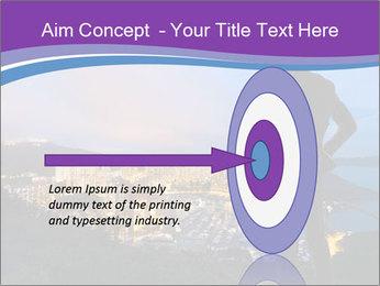 Man Enjoys Sunset PowerPoint Template - Slide 83