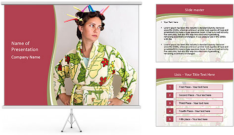Sad Housewife PowerPoint Template