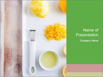 Orange Food PowerPoint Template