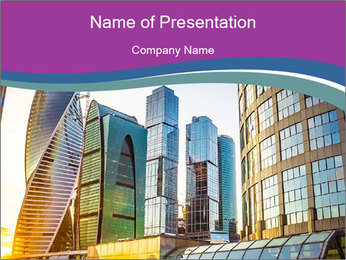 Modern Buildings In Russia PowerPoint Template