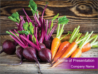 Carrots And Beetroots PowerPoint Template - Slide 1