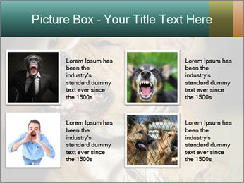 Aggressive Dog PowerPoint Templates - Slide 14