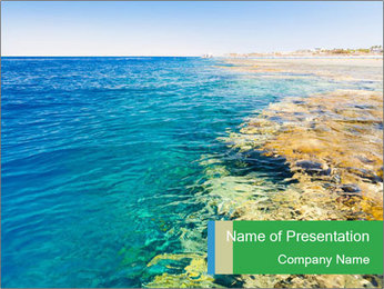 Idyll Seascape PowerPoint Template - Slide 1