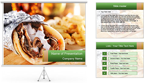 Greek Dish PowerPoint Template
