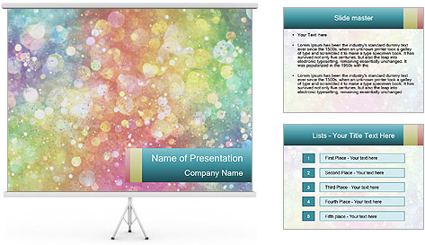 Milkyway Abstraction PowerPoint Template