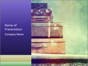 Vintage Baggage PowerPoint Template