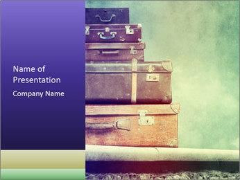 Vintage Baggage PowerPoint Template - Slide 1