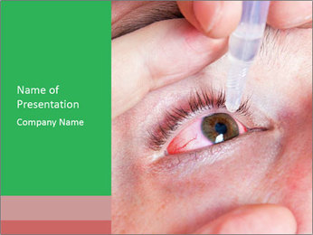 Eye Drops PowerPoint Templates - Slide 1
