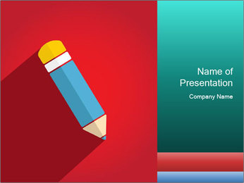Vector Pencil PowerPoint Template - Slide 1