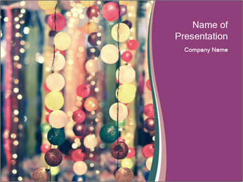 Christmas Party Decor PowerPoint Template - Slide 1