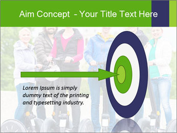 Friends Driving Segway PowerPoint Template - Slide 83