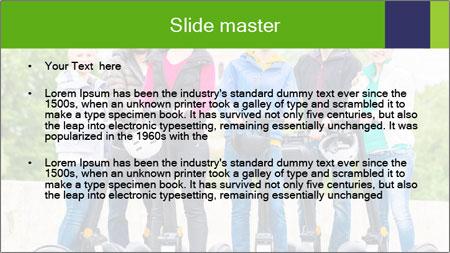 Friends Driving Segway PowerPoint Template - Slide 2