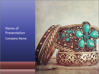 Vintage Bracelet PowerPoint Template