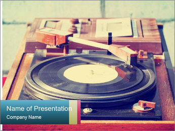 Vintage Vinyl Player PowerPoint Template