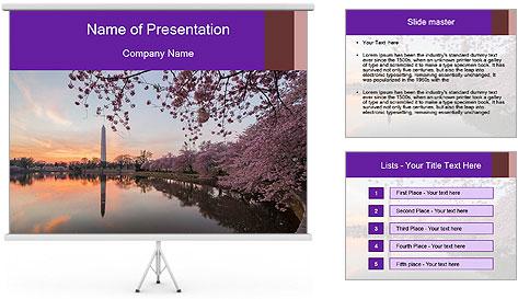 Panoramic Sunset PowerPoint Template