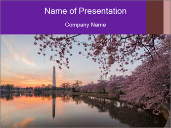 Panoramic Sunset PowerPoint Template - Slide 1