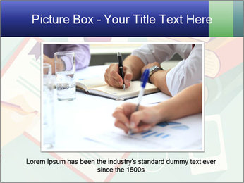 Vector Schoolbooks PowerPoint Templates - Slide 15