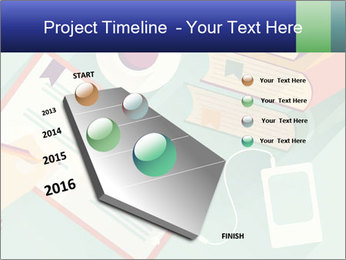 Vector Schoolbooks PowerPoint Templates - Slide 26