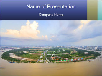Panoramic Construction PowerPoint Template - Slide 1