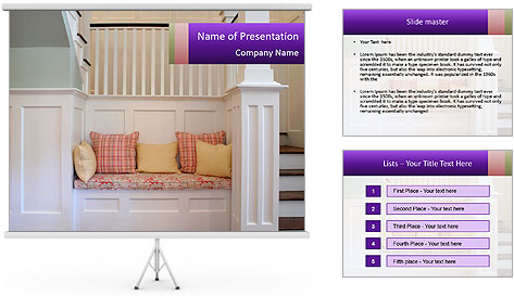 Comfortable Bench PowerPoint Template