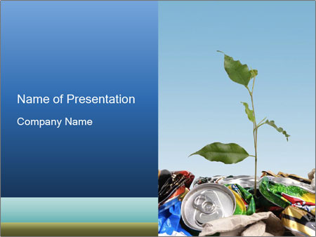 Metalic Can Garbage PowerPoint Templates