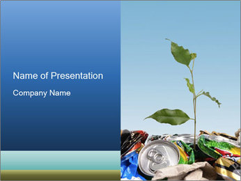 Metalic Can Garbage PowerPoint Templates - Slide 1