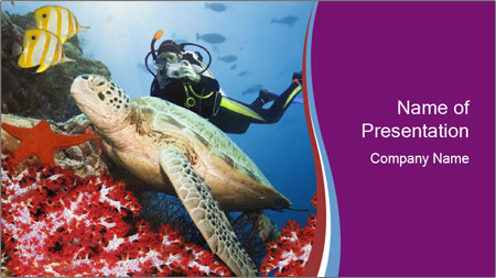Diving Experience PowerPoint Template