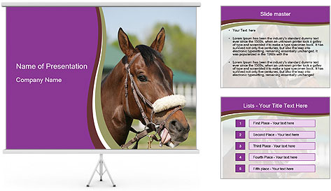 Horse Farm PowerPoint Template