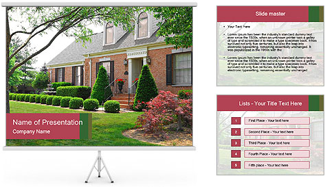 Wealthy House PowerPoint Template