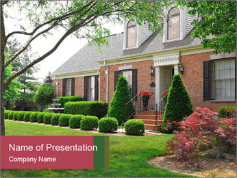 Wealthy House PowerPoint Template - Slide 1