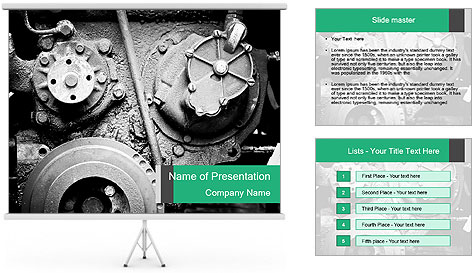 Motor Structure PowerPoint Template