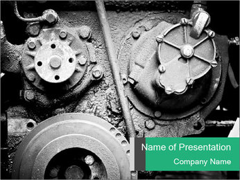 Motor Structure PowerPoint Template - Slide 1