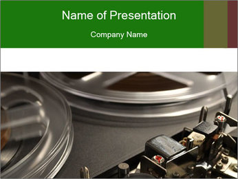 Antique Music Player PowerPoint Template - Slide 1