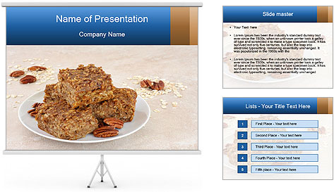 Low Fat Cookies PowerPoint Template