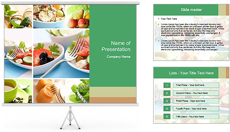 Salad Dieting PowerPoint Template
