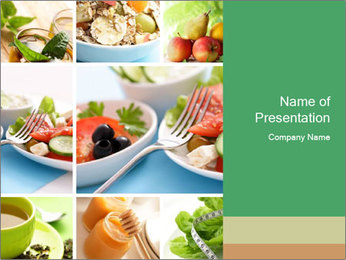 Salad Dieting PowerPoint Templates - Slide 1