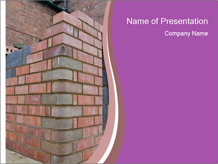 Red Brick Wall PowerPoint Template