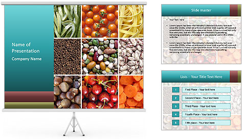 Organic Food Concept PowerPoint Template