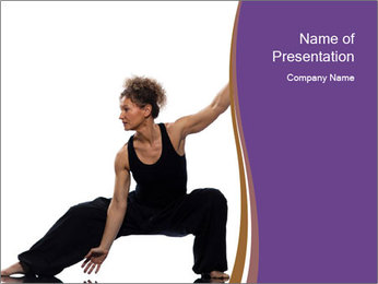 Female Martial Artist PowerPoint Template