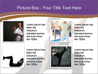 Female Martial Artist PowerPoint Template - Slide 14