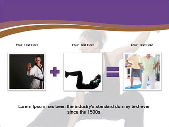 Female Martial Artist PowerPoint Template - Slide 22