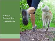 Jogging With Dog PowerPoint Templates